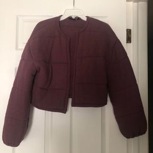 Sweaters - Plum cropped cardigan